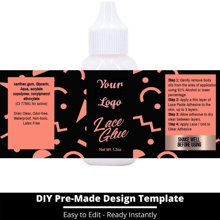 Lace Glue Template 39