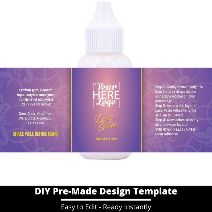 Lace Glue Template 44