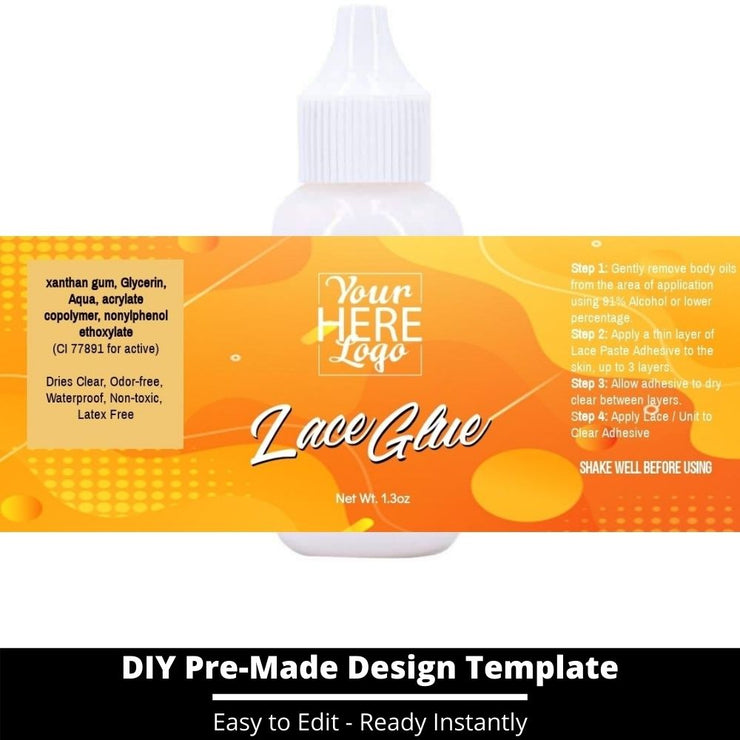 Lace Glue Template 45