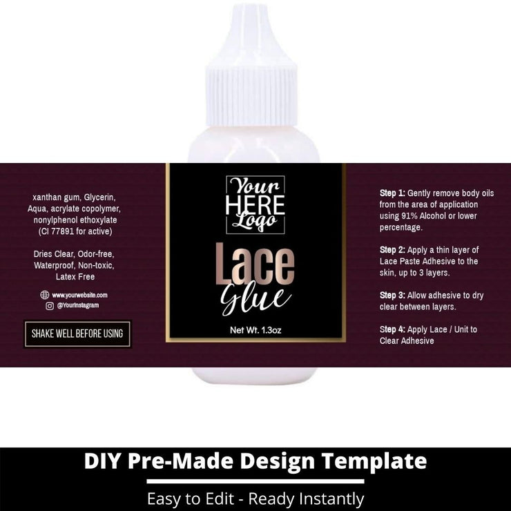 Lace Glue Template 69