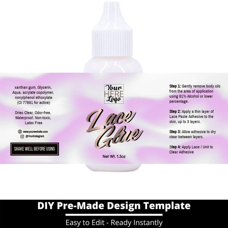 Lace Glue Template 74