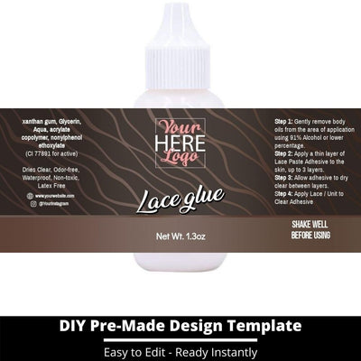 Lace Glue Template 8