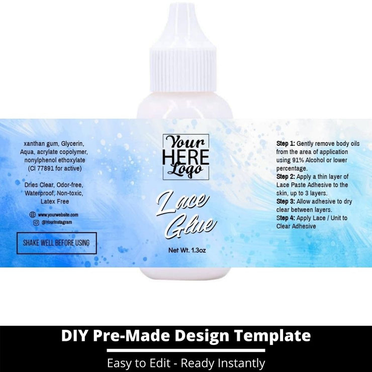Lace Glue Template 96