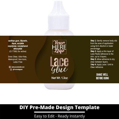 Lace Glue Template 9