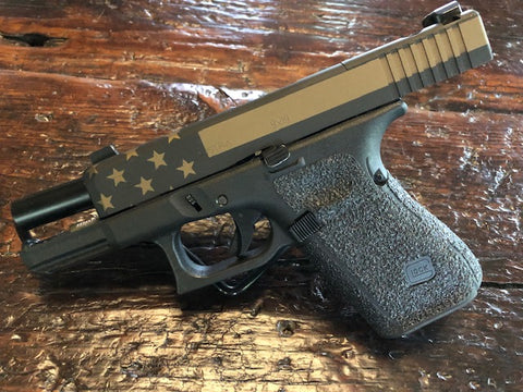 Armorers Black with Burnt Bronze distressed Flag