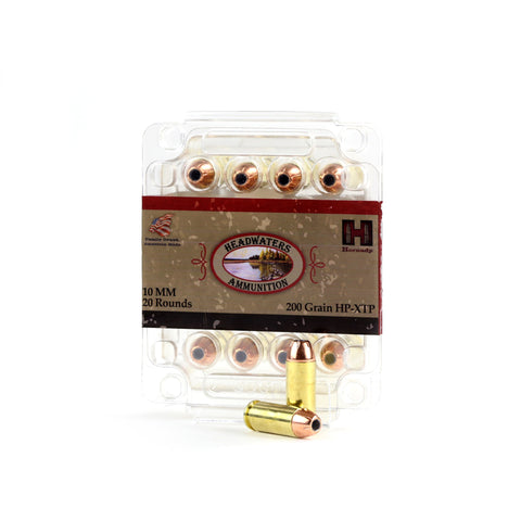 Headwaters Ammunition 10mm Hornady 200 Grain Hollow Point-XTP Box of 20 Rounds