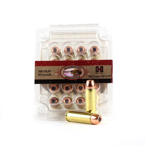 Headwaters Ammunition 500 S&W Hornady 350gr Hollow Point-XTP Box of 20 Rounds
