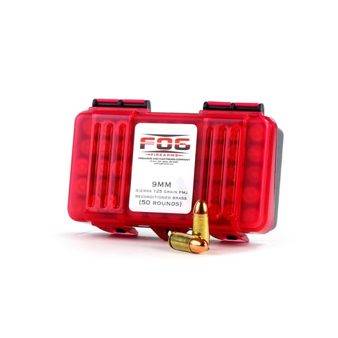 F.O.G. Ammunition 9MM Luger Sierra 125 Grain Full Metal Jacket Box of 50 Rounds, ITEM IS BEING DISCONTINUED, ON SALE TIL SOLD OUT