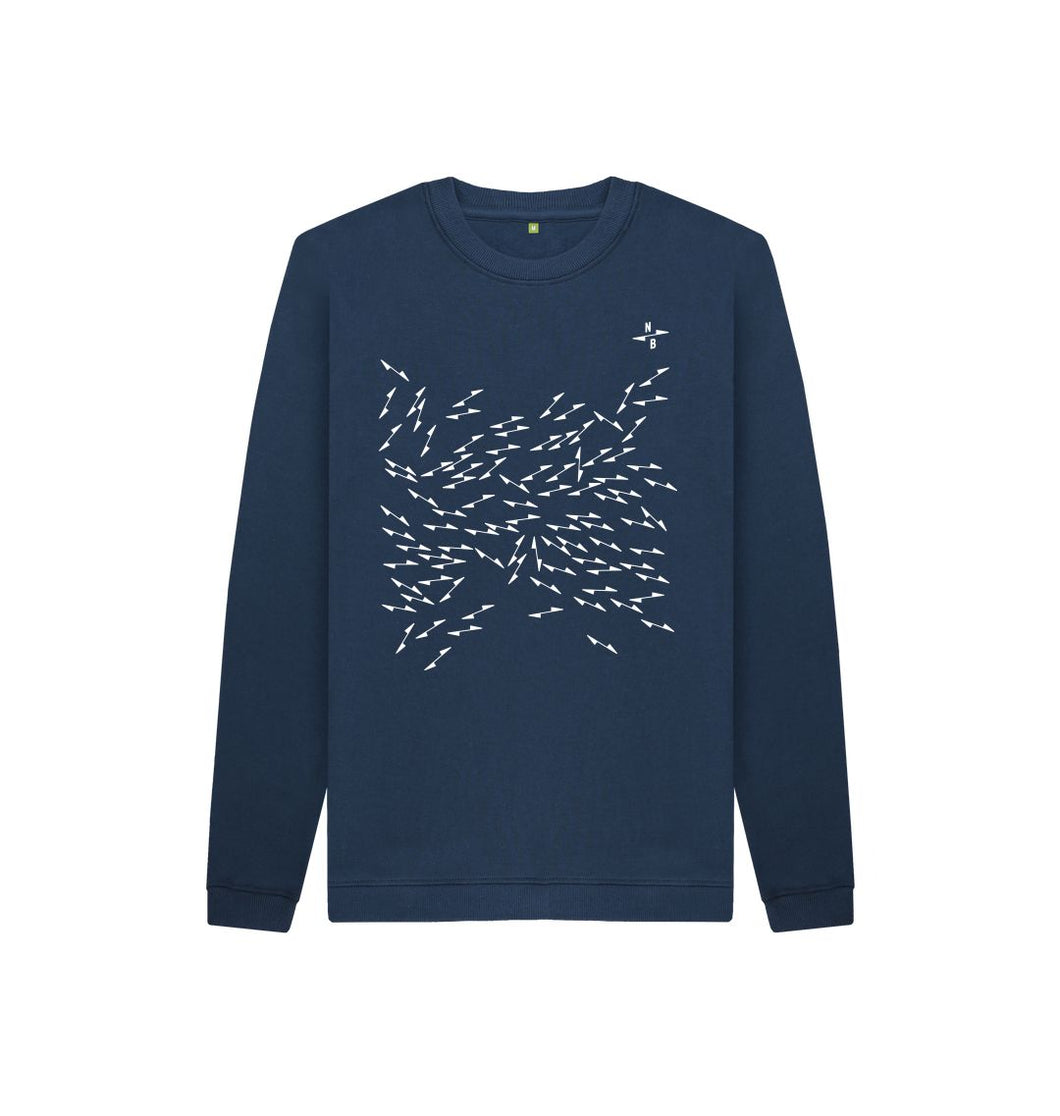 Navy Blue North Arrow Kids Unisex Sweatshirt