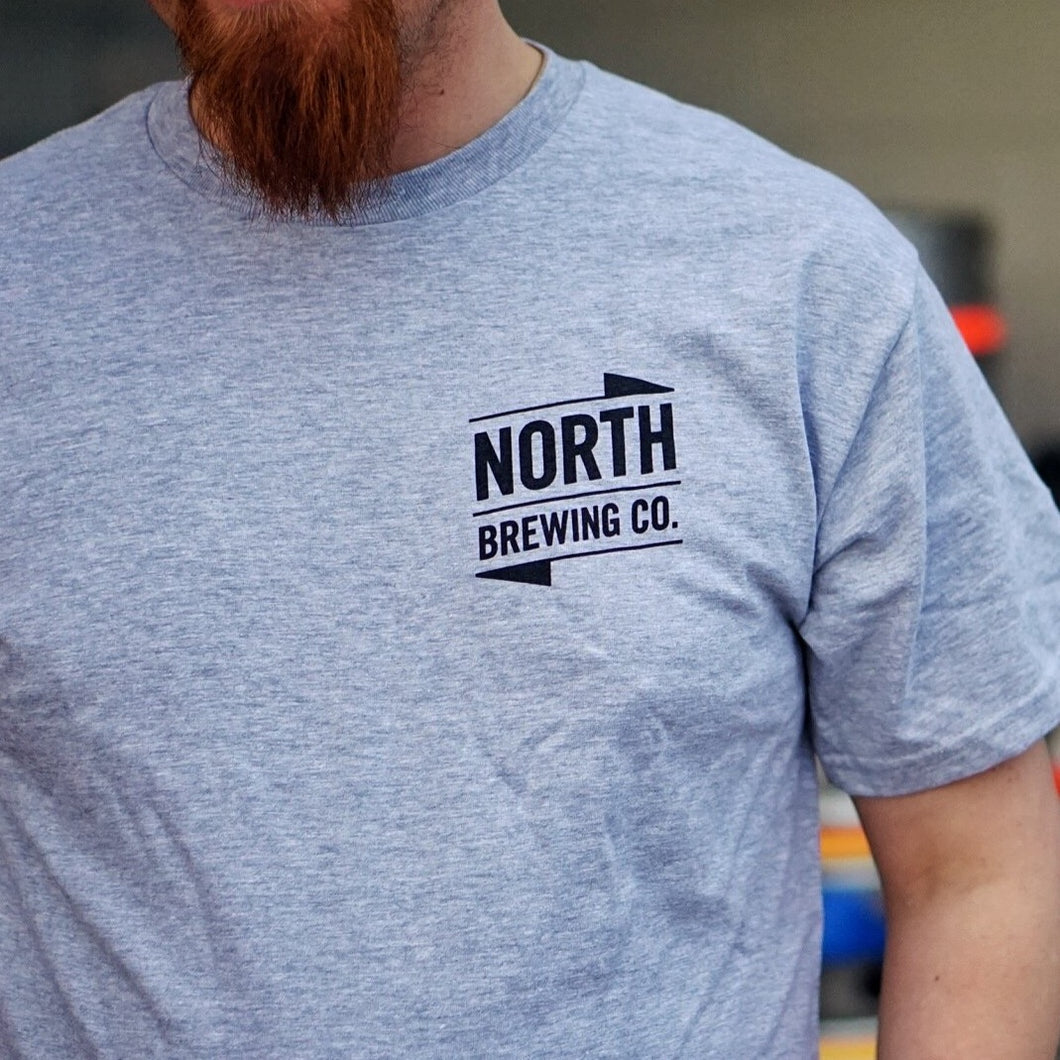 North logo t-shirt - Unisex (light grey)