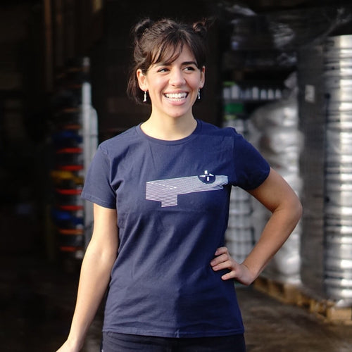NB Wave t-shirt - ladies fit (navy)