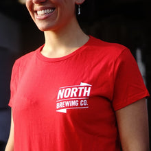 Load image into Gallery viewer, NB Logo t-shirt - Ladies Fit (red)