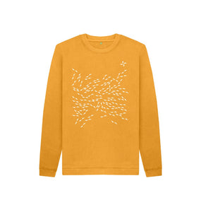 Mustard North Arrow Kids Unisex Sweatshirt
