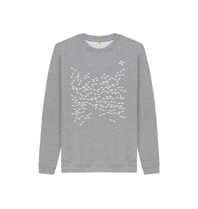 Athletic Grey North Arrow Kids Unisex Sweatshirt