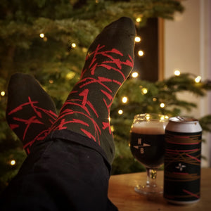 North Red Arrow Organic Socks