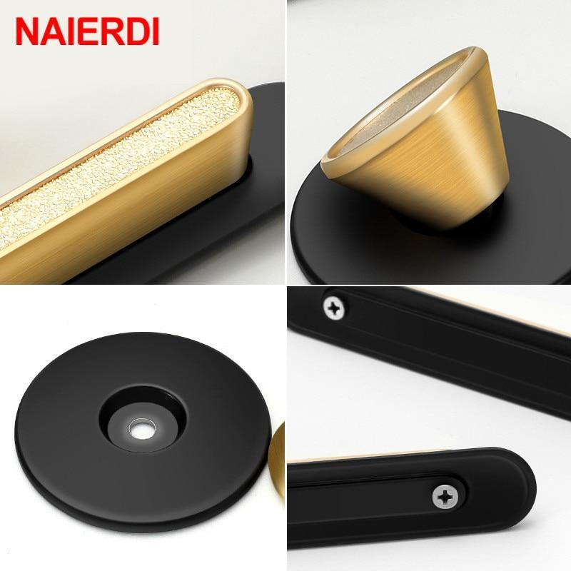 Gold Black Cabinet Knobs and Handles