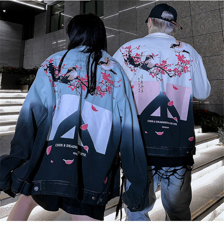 Cherry Blossom Denim Jacket