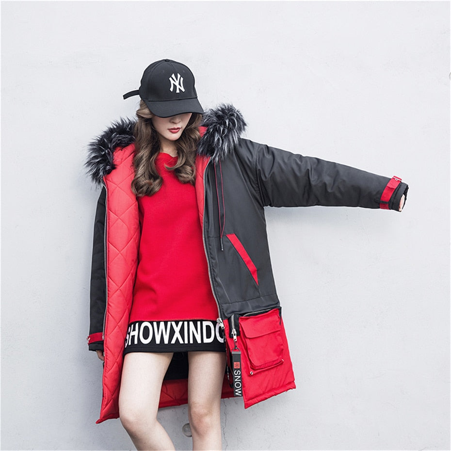 Red Snow Winter Coat