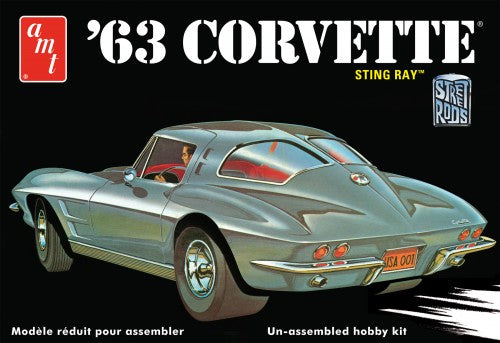 "1963 Chevrolet Corvette ""Stingray"" 1/25 Plastic Model Car Kit"