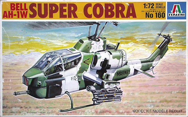 Bell AH-iW Super Cobra Helicopter 1/72 Scale Plastic Model Kit