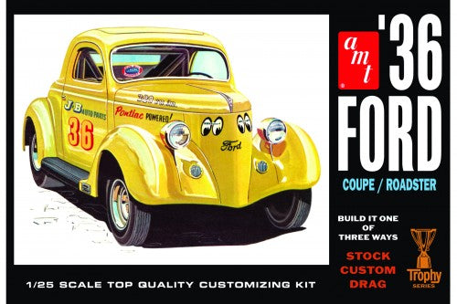 1936 Ford Coupe/ Roadster 3n1 1/25 Scale Plastic Car Model Kit