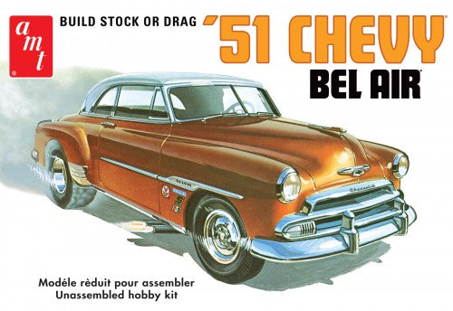 1951 Chevy Bel Air 1/25 Scale Plastic Model Car Kit