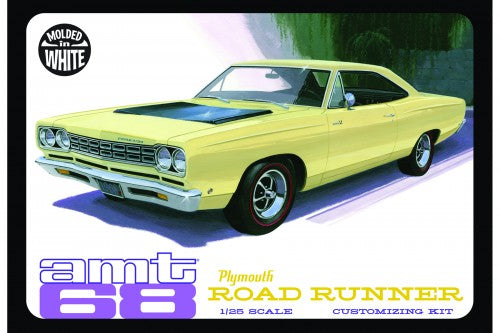 1968 Plymouth Roadrunner (White)`1/25 Plastic Model Kit