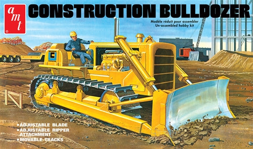 Construction Bulldozer Plastic Model Kit AMT1086