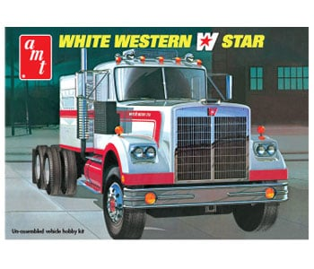 White Western Star Tractor Truck 1/25 Scale Plastic Model Kit 724