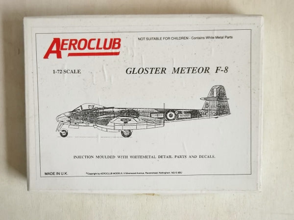 Gloster Meteor F 8 Fighter 1/72 Scale Plastic Model Kit