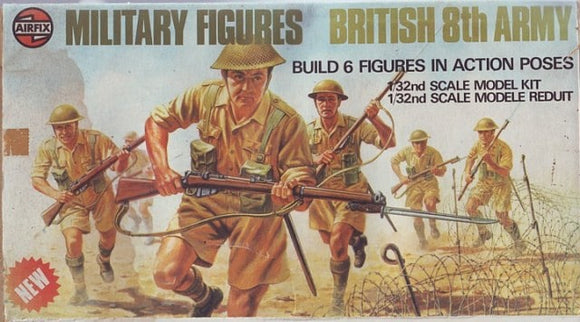 8th Army British Infantry Military Figures Set 1/32 Scale