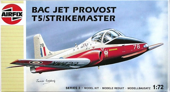 BAC Jet Provost T5 Trainer 1/72 Scale Plastic Model Kit