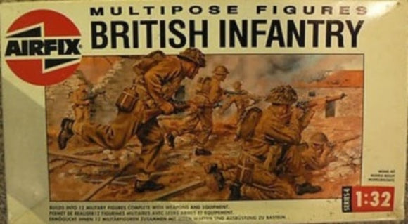 British Infantry Military Figures Set 1/32