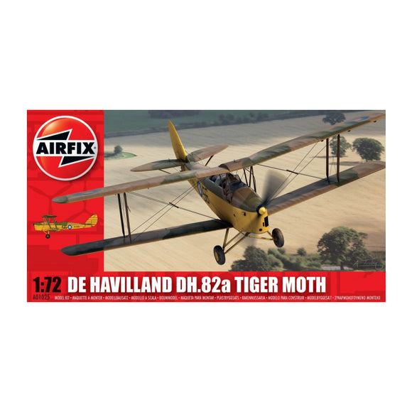 De Havilland DH 82a Tiger Moth 1/72 Scale Plastic Model Kit