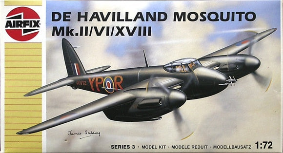 DeHavilland Mosquito Mk. ll/ Vl XVlll 1/72 Scale Plastic Model Kit