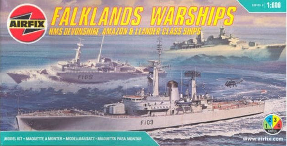 Falklands Warships 1/600 Scale 3 Ship Model Kit