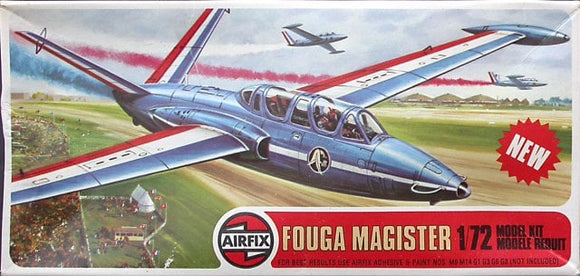 Fouga CM170 Magister Trainer 1/72 Scale Plastic Model Kit