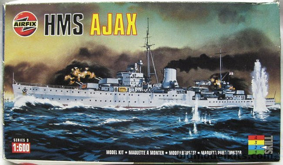 HMS Ajax Cruiser 1/600 Scale