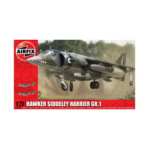 Hawker Siddley Harrier GR1 1/72 Scale Plastic Model Kit