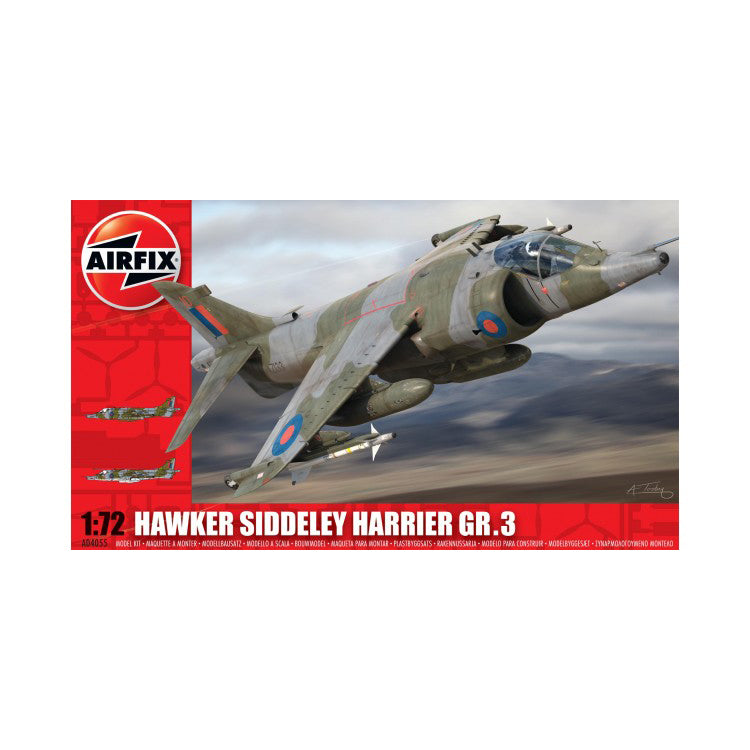 Hawker Siddley  Harrier GR3 1/72 Scale Plastic Model Kit