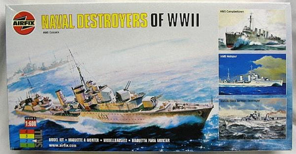 Naval Destroyers of WWll 1/600 Scale 4 Ship Model Kit