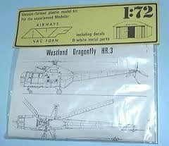 Westland Dragonfly HR3 Helicopter 1/72 Scale Plastic Model Kit