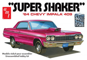 "1964 Chevy Inpala 409 ""Super Shaker"" 1/25 Plastic Model Car Kit"
