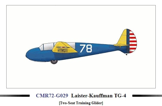 Laister Kaufmann TH-4 Glider 1/72 Scale Plastic Model Kit