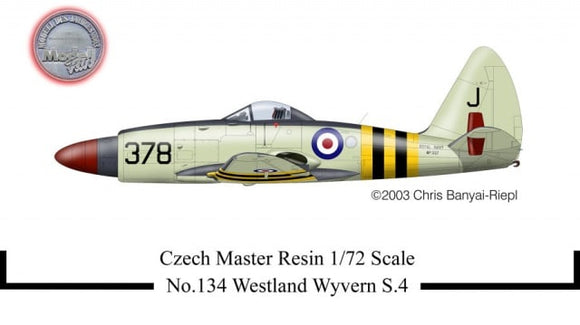 Westland Wyvern S4 Fighter 1/72 Scale Plastic Model Kit