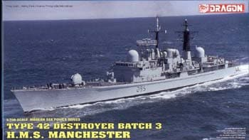 HMS Manchester Destroyer  1/700 Scale
