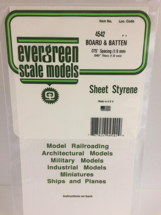 Styrene Board and Batten 4542