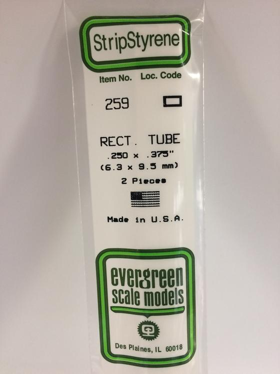 Styrene Rectangular Tube 259