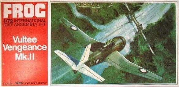 Vultee Vengeance MKll Dive Bomber 1/72 Scale Plastic Model Kit