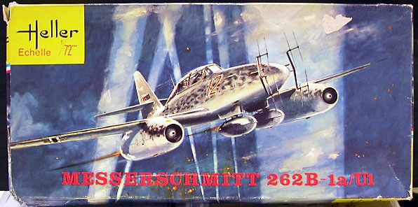 Messerschmitt ME262B-1a/O1 Fighter 1/72 Scale Plastic Model Kit